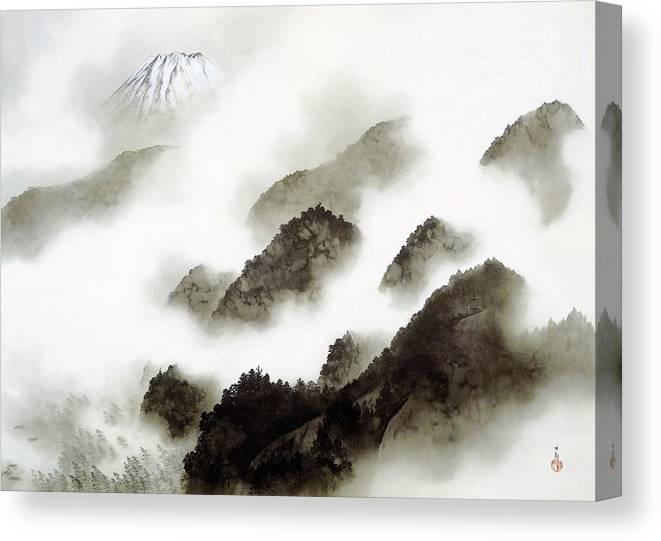 Yokoyama Taikan Canvas Print featuring the painting Mount Fuji - Ameharu - Top Quality Image Edition by Yokoyama Taikan