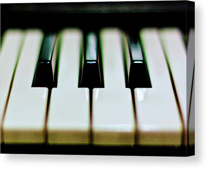 Black Color Canvas Print featuring the photograph Piano Keys by Calvert Byam