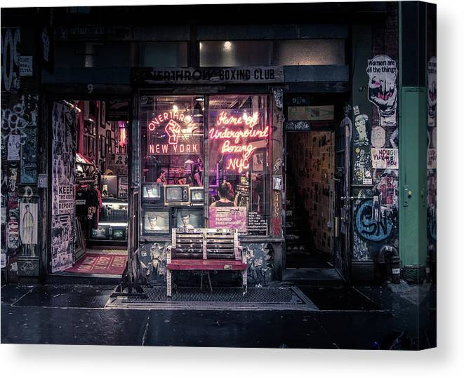 Boxing Canvas Print featuring the photograph Underground Boxing Club Nyc by Nicklas Gustafsson