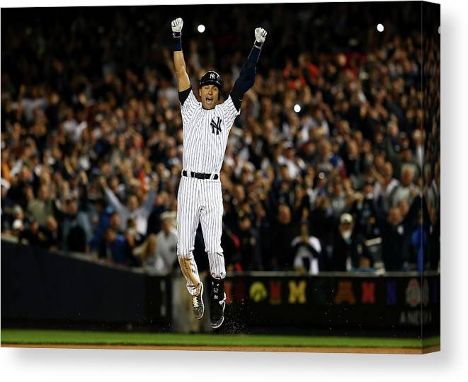 Ninth Inning Canvas Print featuring the photograph Derek Jeter by Elsa