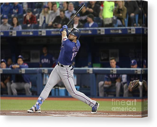 People Canvas Print featuring the photograph Joey Gallo by Tom Szczerbowski
