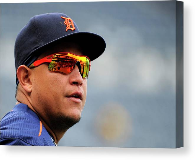 People Canvas Print featuring the photograph Miguel Cabrera by Ed Zurga