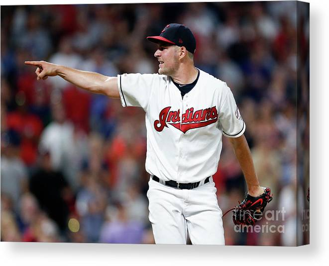 Three Quarter Length Canvas Print featuring the photograph Trevor Bauer by Ron Schwane