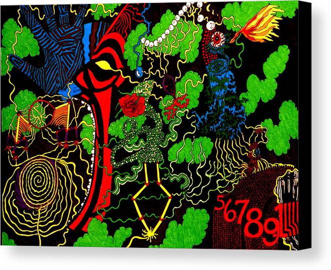 Abstract Canvas Print featuring the print Obsession by William Watson