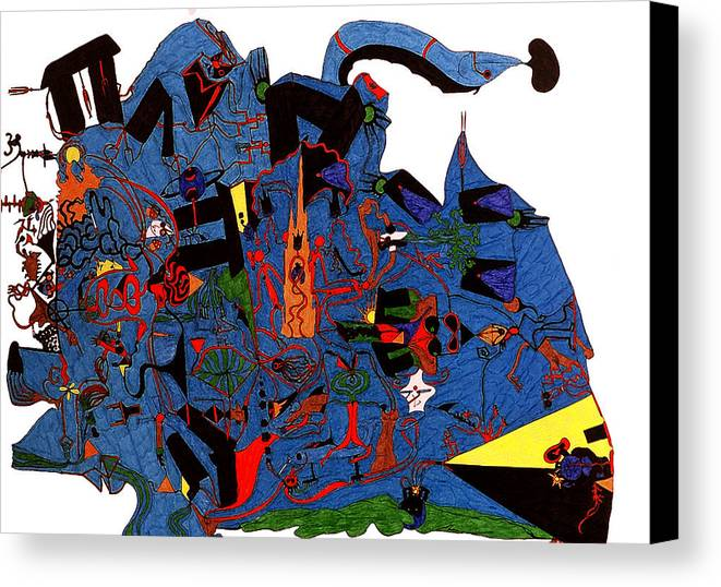 Abstract Canvas Print featuring the print Vision Quest by William Watson