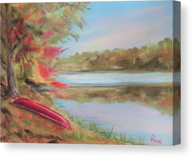 Canoe Canvas Print featuring the painting Rogue River by Pete Maier