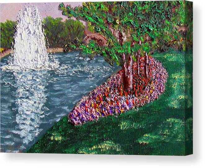Fountain Canvas Print featuring the painting Wrsp August by Stan Hamilton