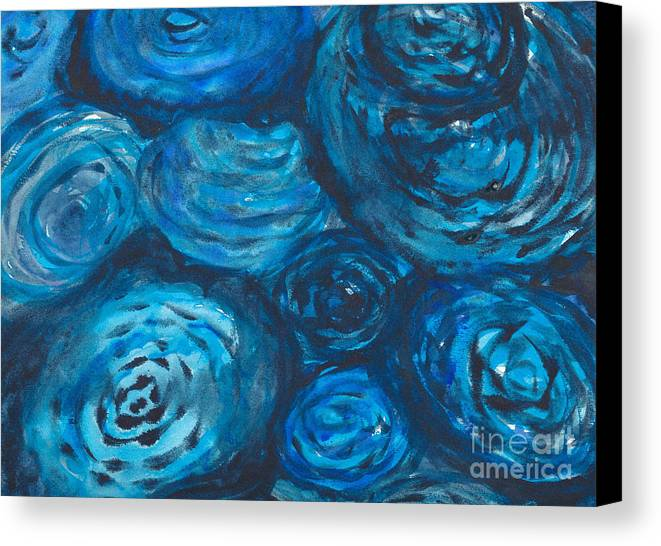 Abstract Canvas Print featuring the painting Abstract Watercolour Painting by Kerstin Ivarsson