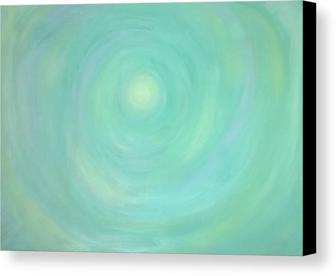 Abstract Canvas Print featuring the painting Beneath by Deb Mayer