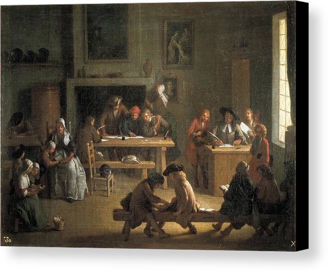 Horizontal Canvas Print featuring the photograph Houasse, Michel-ange 1680-1730 by Everett