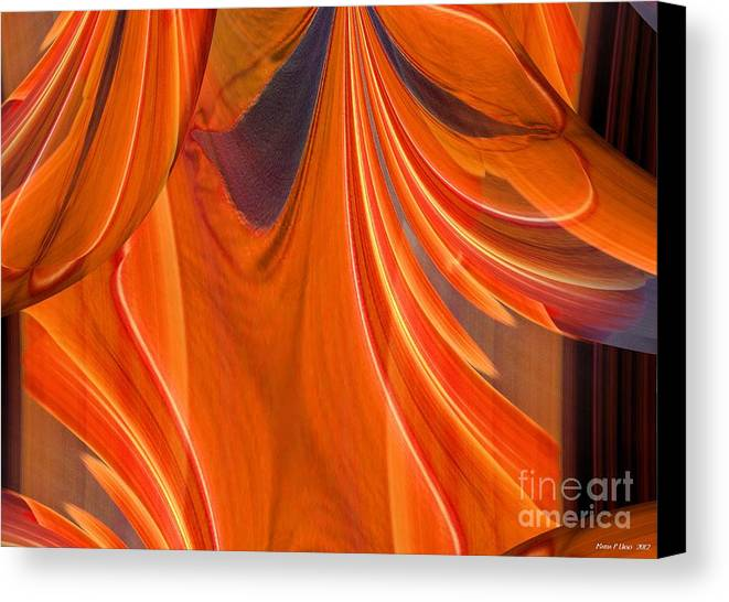 Abstract 201 Canvas Print featuring the digital art Abstract 201 by Maria Urso