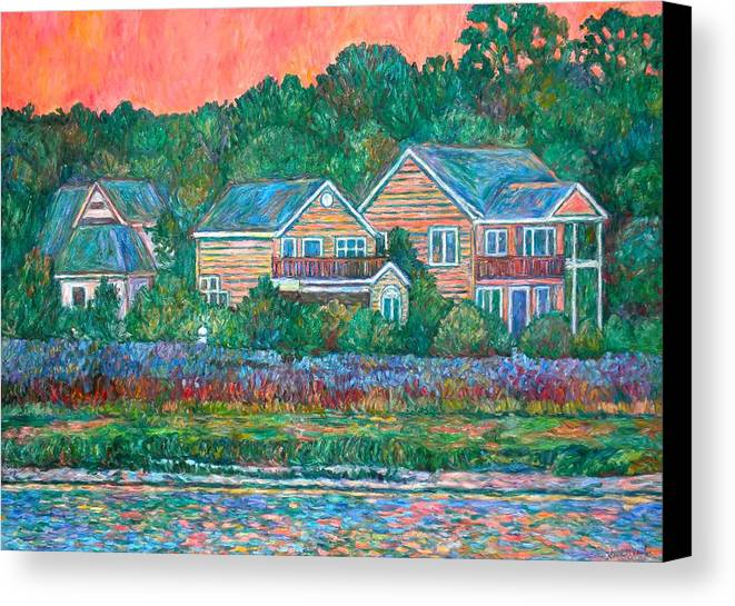 Landscape Canvas Print featuring the painting Across The Marsh At Pawleys Island    by Kendall Kessler