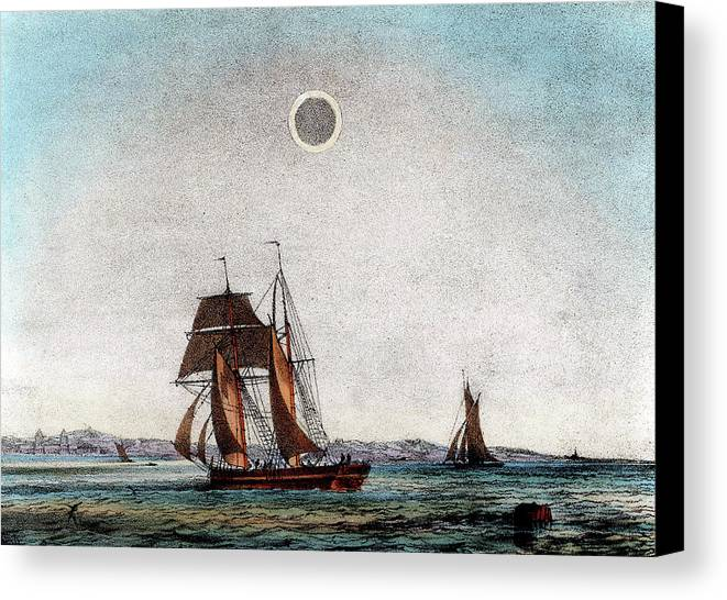 Annular Canvas Print featuring the photograph Annular Eclipse Of The Sun by Universal History Archive/uig