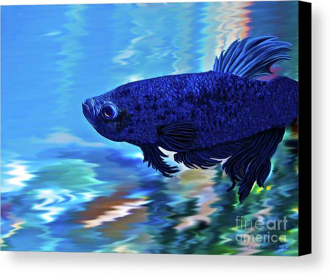 Fine Art Photography Canvas Print featuring the painting Blue Boy by Patricia Griffin Brett