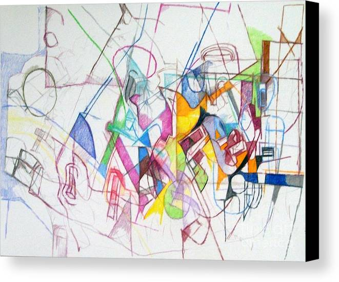Torah Canvas Print featuring the drawing bSeter Elyon 15 by David Baruch Wolk