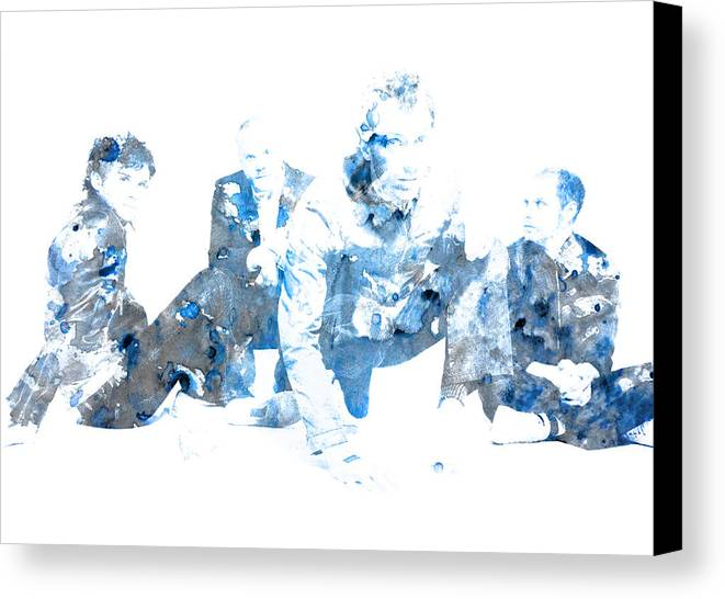 Coldplay Canvas Print featuring the digital art Coldplay by Brian Reaves