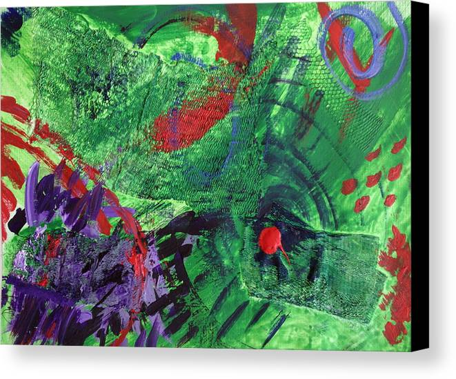 Mixed Media Canvas Print featuring the painting Collage Study by Ann Lauren