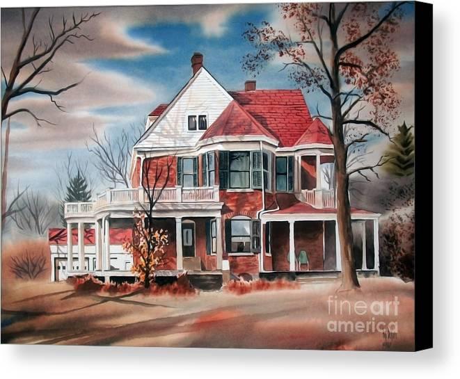 Edgar Home Canvas Print featuring the painting Edgar Home by Kip DeVore