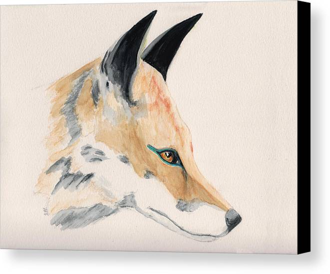 Animal Canvas Print featuring the painting Foxy Lady by Stephanie Grant