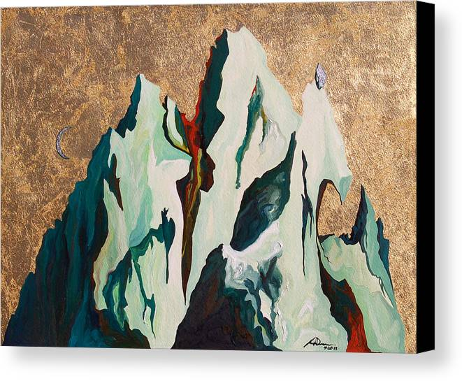 Mountains Canvas Print featuring the painting Gold Mountain by Joseph Demaree