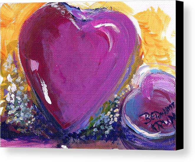 Heart Canvas Print featuring the painting Heart Of Love by Bernadette Krupa