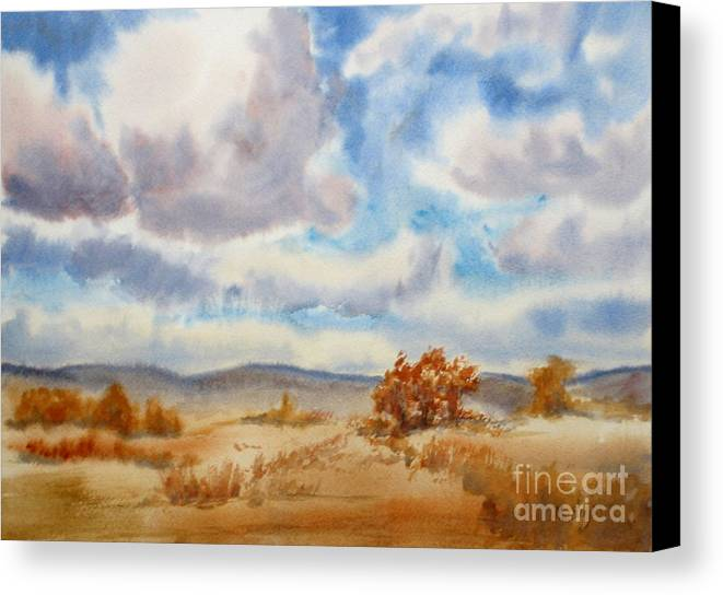 Alpine Canvas Print featuring the painting Large Prairie Sky by Mohamed Hirji