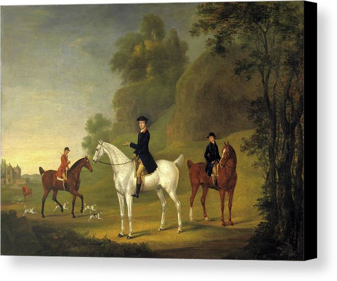 1722 Canvas Print featuring the painting Lord Bulkeley And His Harriers by Litz Collection