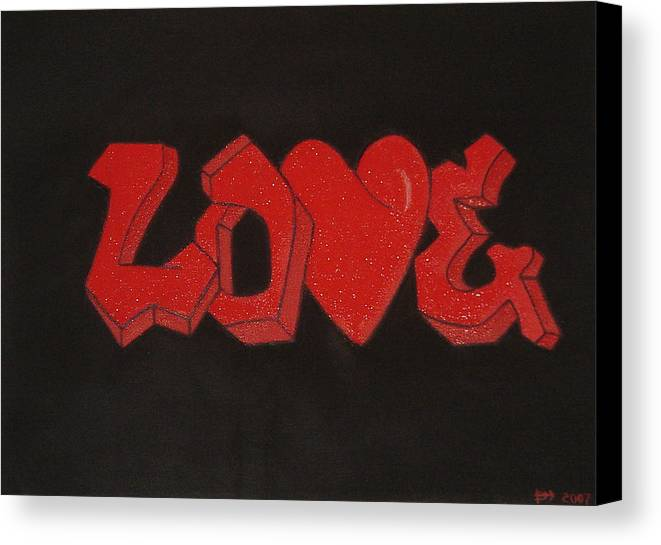 Love Canvas Print featuring the painting Love by Vykky Gamble