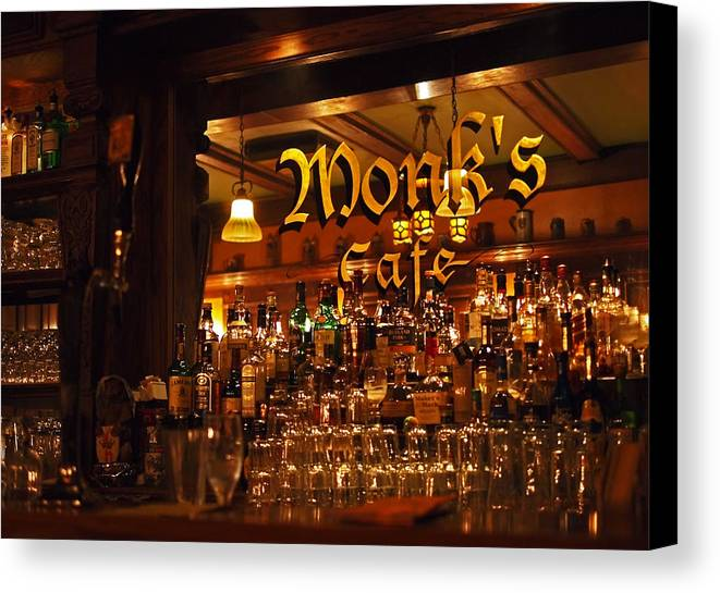 Monk's Cafe Canvas Print featuring the photograph Monks Cafe by Rona Black