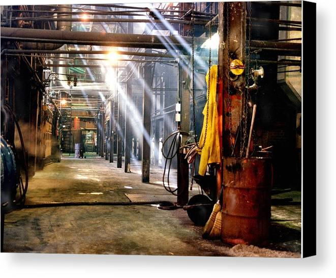 Painting Canvas Print featuring the photograph Painting Of A Sugar Mill Boiler Room by Ronald Olivier