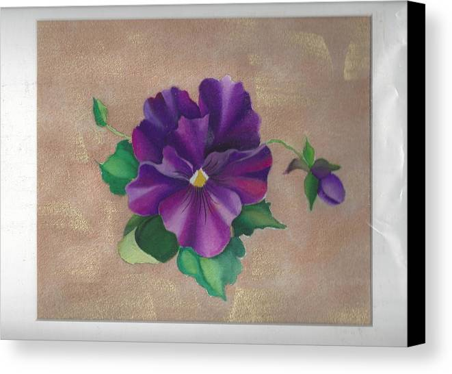 Pansy Canvas Print featuring the painting Perfect Pansy by Rita Horton