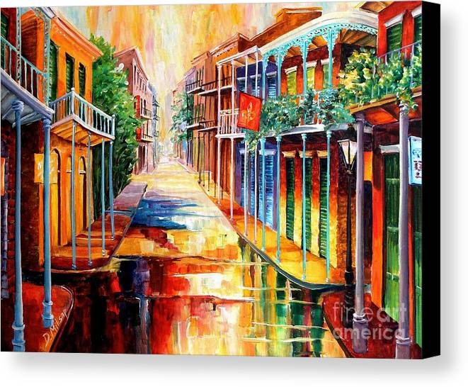 New Orleans Canvas Print featuring the painting Royal Street Reflections by Diane Millsap