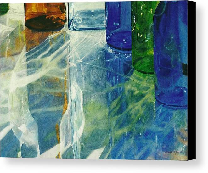 Watercolor Canvas Print featuring the painting Spirit Dance by Brenda McCollum