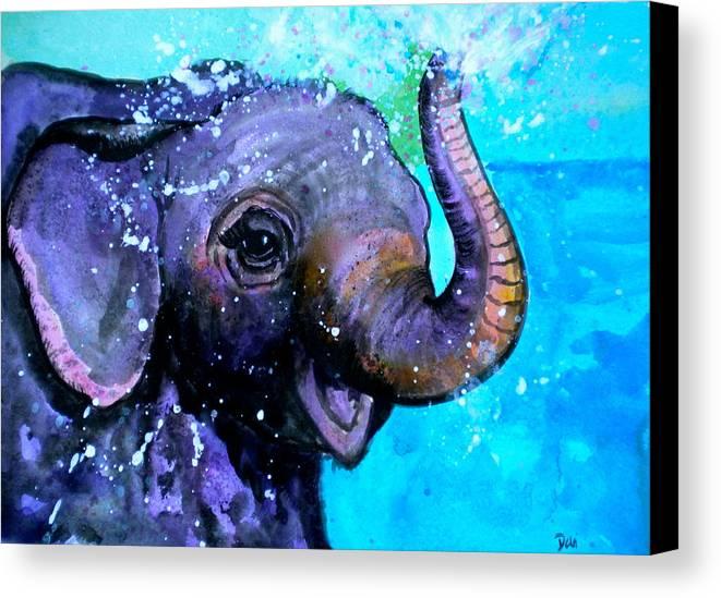Splish Splash Canvas Print featuring the painting Splish Splash by Debi Starr