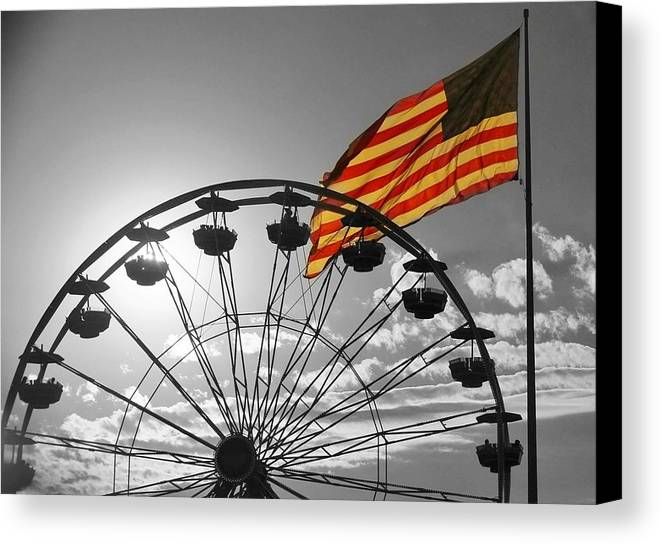 U.s. Flag Canvas Print featuring the photograph State Fair Sunset by Ashley Martin