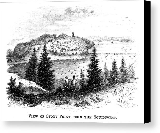 1852 Canvas Print featuring the painting Stony Point, New York by Granger