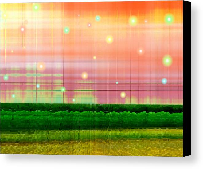 Abstract Canvas Print featuring the digital art Sweet Tuesday Morning by Wendy J St Christopher