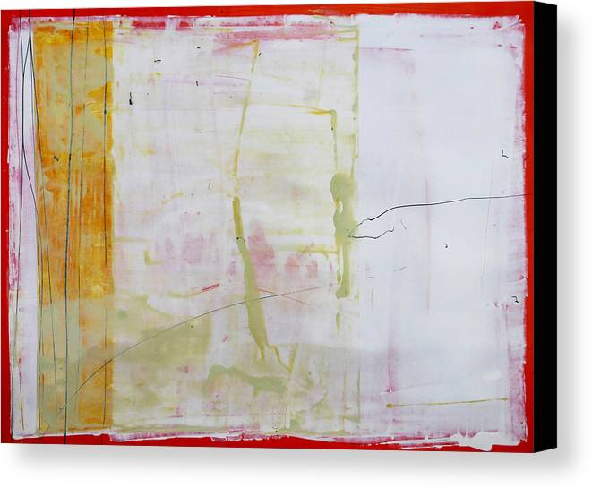 Abstract Canvas Print featuring the painting The Edges 6 by Mark Fearn