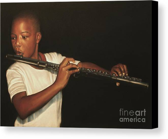 The Fifer I Canvas Print featuring the pastel The Fifer I by Curtis James