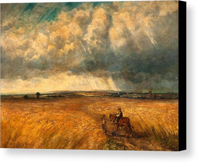 Storm Canvas Print featuring the painting The Gathering Storm, 1819 by John Constable