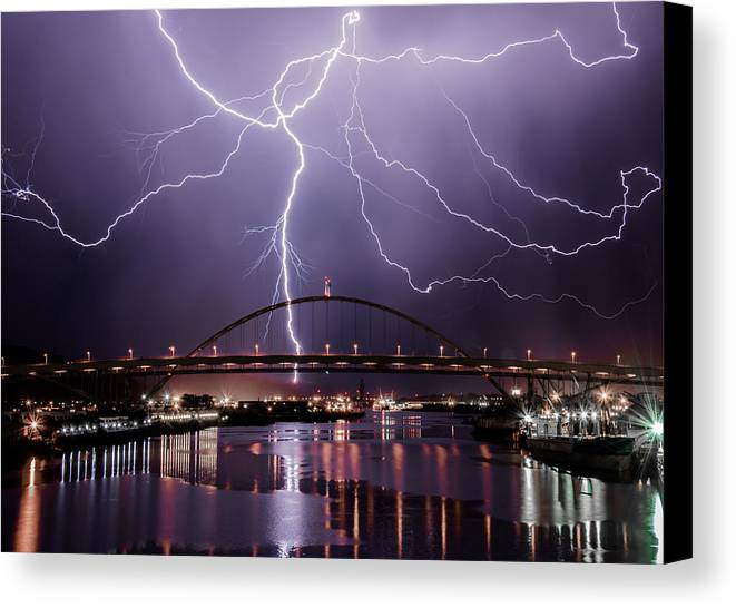 Amazing Canvas Print featuring the photograph The Lightning by Adam Fous
