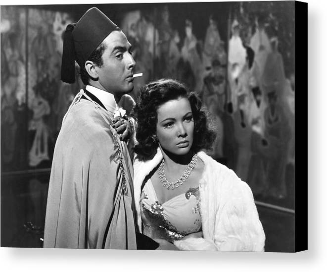1940s Movies Canvas Print featuring the photograph The Shanghai Gesture, From Left Victor by Everett