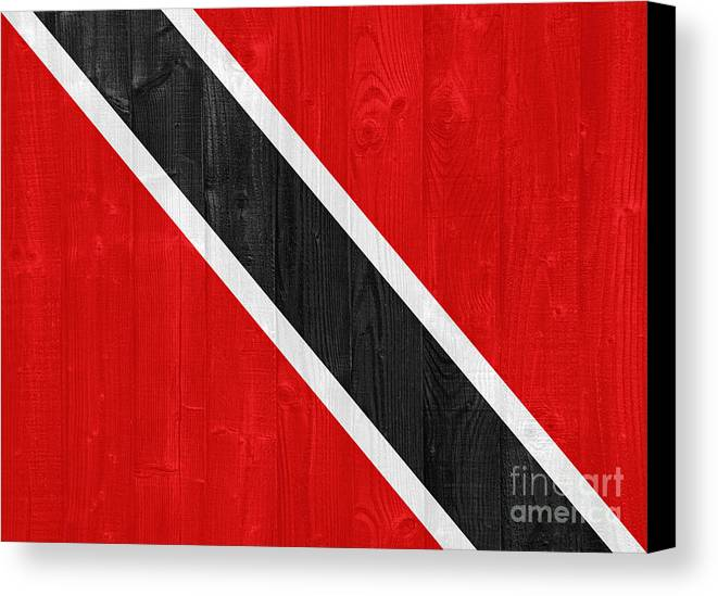 Trinidad Canvas Print featuring the photograph Trinidad And Tobago Flag by Luis Alvarenga