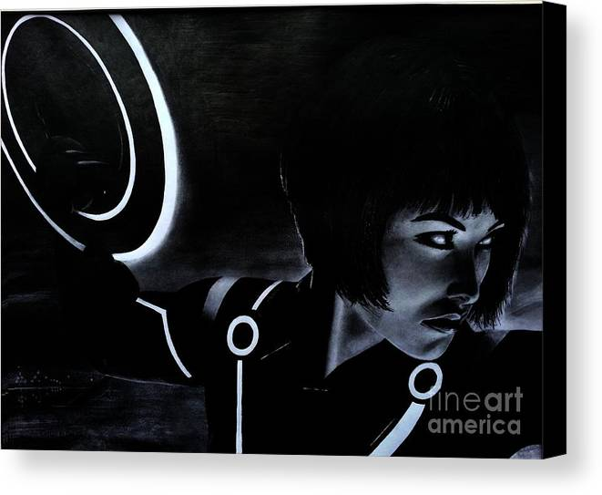Tron Canvas Print featuring the drawing Tron by Gil Fong