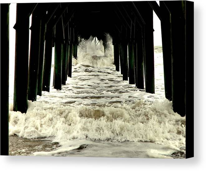 Seascapes Canvas Print featuring the photograph Tunnel Vision by Karen Wiles