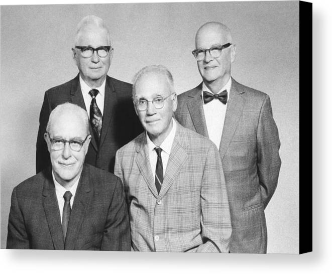 People Canvas Print featuring the photograph Us Physicists by Science Photo Library