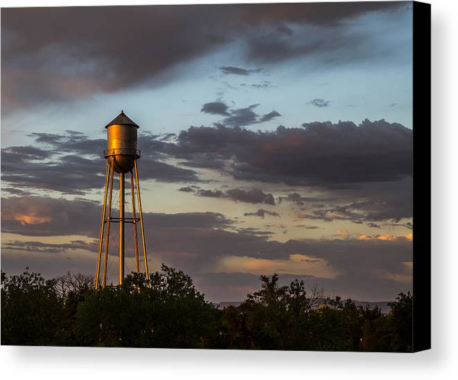 Route 66 Canvas Print featuring the photograph Water Tower Nm by Angus Hooper Iii