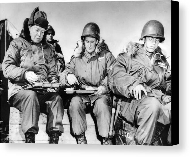 History Canvas Print featuring the photograph President-elect Dwight Eisenhower by Everett