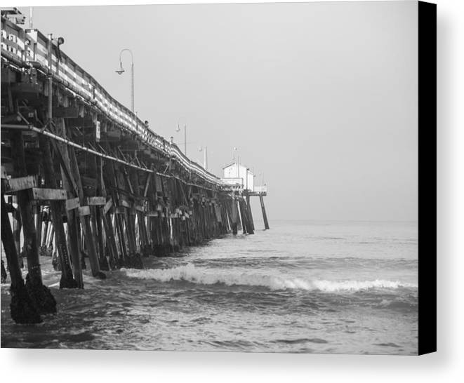 San Clemente Canvas Print featuring the photograph San Clemente Pier by Ralf Kaiser