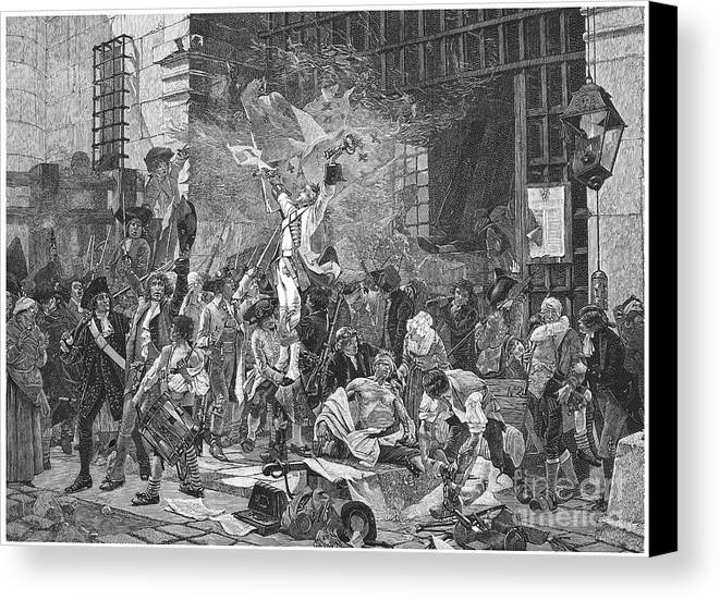 1789 Canvas Print featuring the photograph French Revolution, 1789 by Granger
